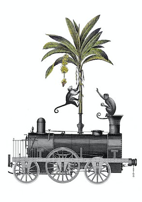 (CreativeWork) Tropical Steam Train. 1/10. by Sarah Mitchell. Other Media. Shop online at Bluethumb.