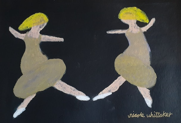 (CreativeWork) Twin flame ballerina  by Nicole Whittaker. Other Media. Shop online at Bluethumb.