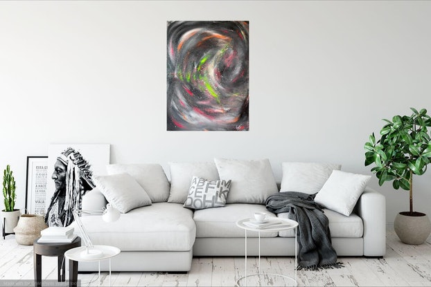 (CreativeWork) AMOUR by Rick Smith. Acrylic Paint. Shop online at Bluethumb.