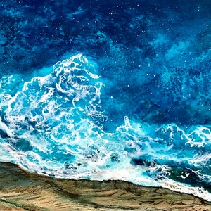 (CreativeWork) CERULEAN SEA by Vanessa Mae. Acrylic Paint. Shop online at Bluethumb.