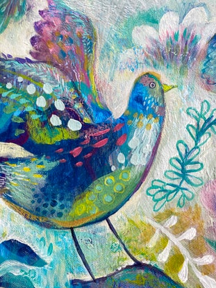 (CreativeWork) Pattern Memories by Jules Madden. Acrylic Paint. Shop online at Bluethumb.