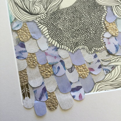 (CreativeWork) Lay Me By Your Side by Alicia Rogerson. Mixed Media. Shop online at Bluethumb.