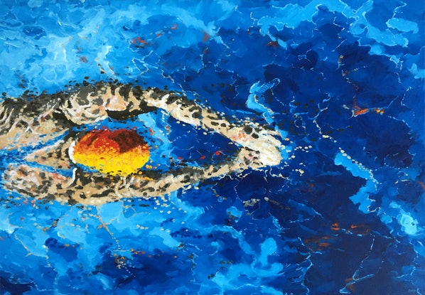 (CreativeWork) Freestyle by Banx aka Mike Banks. Acrylic Paint. Shop online at Bluethumb.