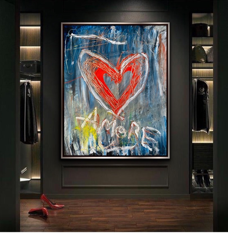 (CreativeWork) Amore by Shane Bowden. Acrylic Paint. Shop online at Bluethumb.