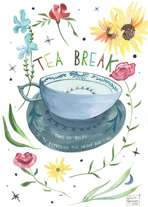 (CreativeWork) Tea For Me by Alicia Rogerson. Mixed Media. Shop online at Bluethumb.