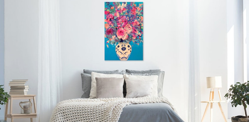 (CreativeWork) Haute en couleur (High in Colour) Original Acrylic Painting       by Tanya Cole. Acrylic Paint. Shop online at Bluethumb.
