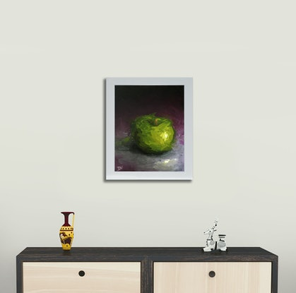 (CreativeWork) STILL LIFE - Apple #17 by Damien Venditti. Oil Paint. Shop online at Bluethumb.