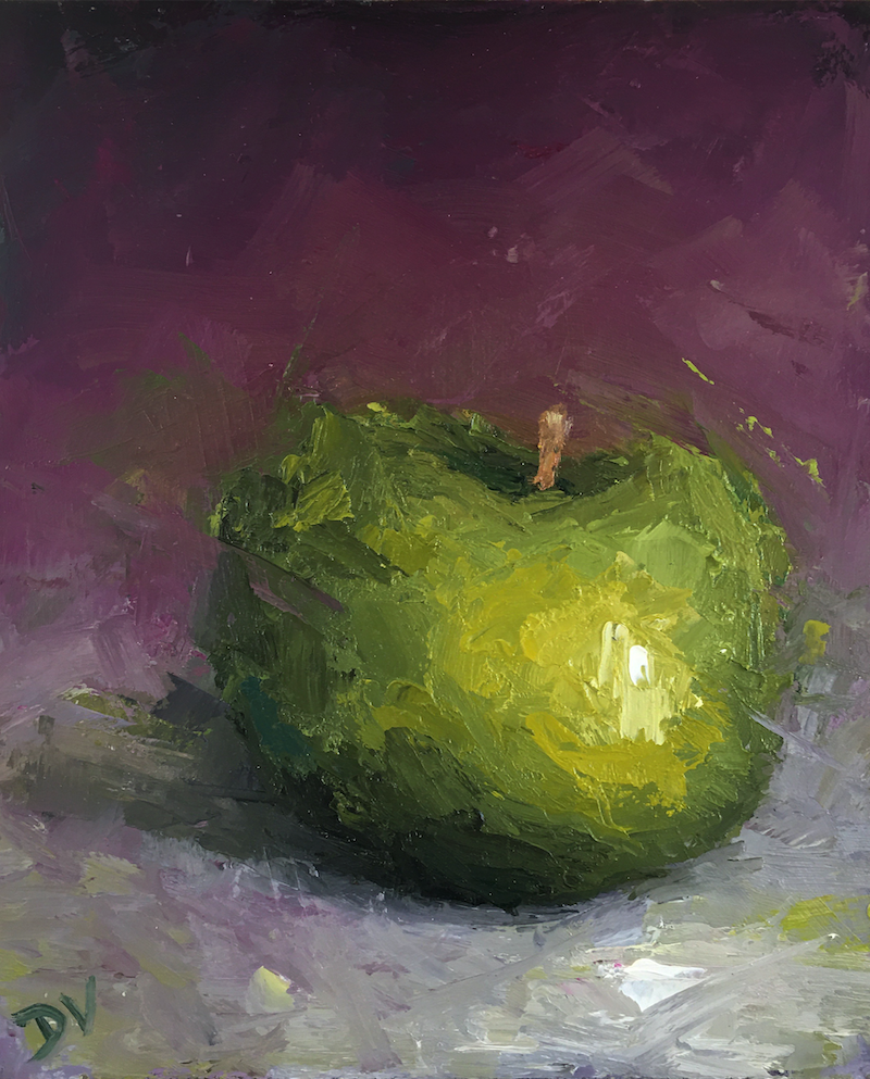 (CreativeWork) STILL LIFE - Apple #18 by Damien Venditti. Oil Paint. Shop online at Bluethumb.