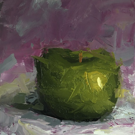(CreativeWork) STILL LIFE - Apple #19 by Damien Venditti. Oil Paint. Shop online at Bluethumb.