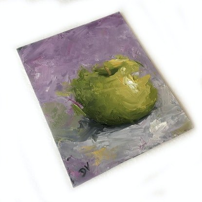 (CreativeWork) STILL LIFE - Apple #20 by Damien Venditti. Oil Paint. Shop online at Bluethumb.