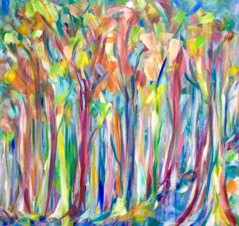 (CreativeWork) Sound of the Forest by Terina Jones. Acrylic Paint. Shop online at Bluethumb.