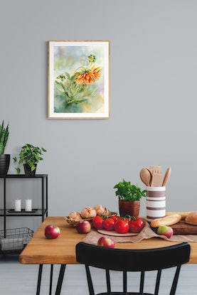 (CreativeWork) Dahlia by Cecilia Xiao. Watercolour Paint. Shop online at Bluethumb.