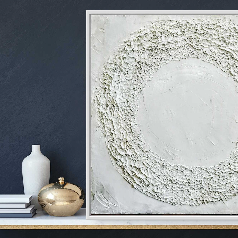 (CreativeWork) White Coral - Abstract beach art by Josephine Ann Pitsiava. Mixed Media. Shop online at Bluethumb.
