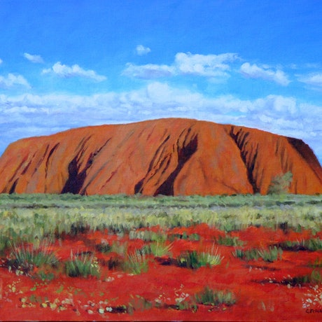 (CreativeWork) Ayers Rock by Craig Taylor. Oil Paint. Shop online at Bluethumb.