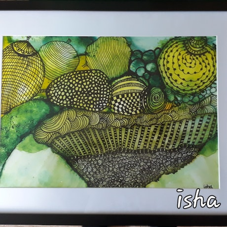 (CreativeWork) Fruity doodles by Isha Paasse. Other Media. Shop online at Bluethumb.