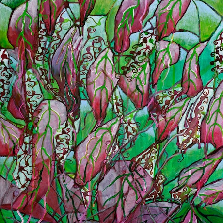 (CreativeWork) Waterfall of Leaves by Kerry Keim. Mixed Media. Shop online at Bluethumb.