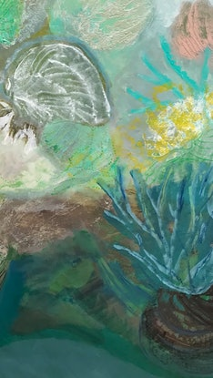 (CreativeWork) Oceanic Shallows -1.65 meters by Tracey Berthold. Mixed Media. Shop online at Bluethumb.