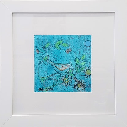 (CreativeWork) Flitting Through The Forest by Alice West. Mixed Media. Shop online at Bluethumb.