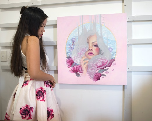 (CreativeWork) In my element by Michelle Angelique. Acrylic Paint. Shop online at Bluethumb.