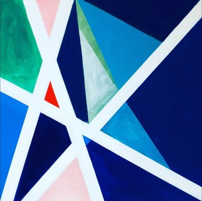 (CreativeWork) Kites - Limited Edition Art Print (1/16) Geometric Abstract  Ed. 1 of 16 by Shabs Beigh. Print. Shop online at Bluethumb.