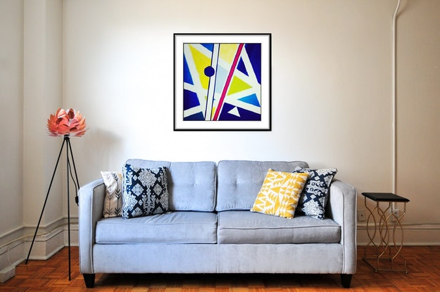 (CreativeWork) Kites 2 - Limited Edition Art Print (1/16) Geometric Abstract Ed. 1 of 16 by Shabs Beigh. Print. Shop online at Bluethumb.