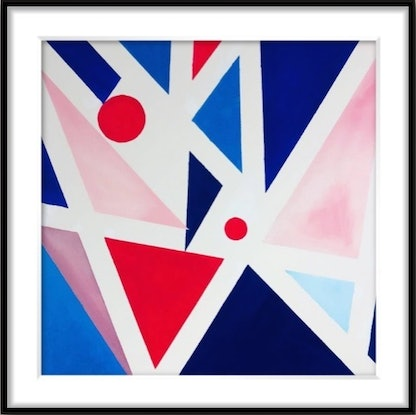 (CreativeWork) Kites 3 - Abstract Geometric Limited Edition Art Print (1/16) Ed. 1 of 16 by Shabs Beigh. Print. Shop online at Bluethumb.