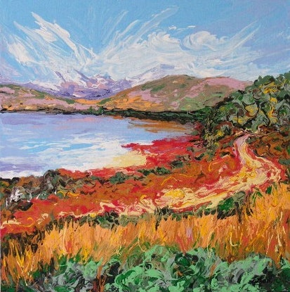 "(CreativeWork) ""Lake Negri, Rottnest Island"" by Daniela Selir. Acrylic Paint. Shop online at Bluethumb."