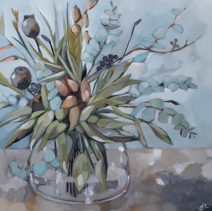 (CreativeWork) From the Garden by Sam Suttie. Oil Paint. Shop online at Bluethumb.