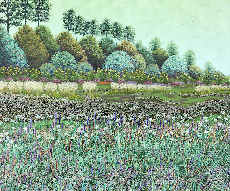(CreativeWork) Field of dreams by Sue Smith. Acrylic Paint. Shop online at Bluethumb.