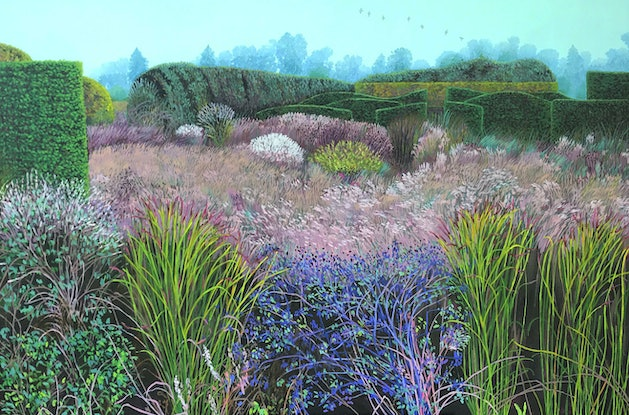(CreativeWork) Dream meadow by Sue Smith. Acrylic Paint. Shop online at Bluethumb.