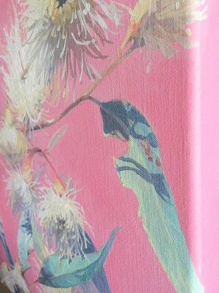 (CreativeWork) PRETTY IN PINK by JAIME PROSSER. Oil Paint. Shop online at Bluethumb.
