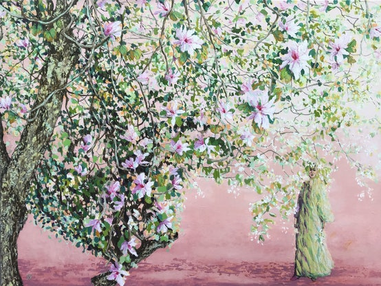 (CreativeWork) A perfect spring day by Sue Smith. Acrylic Paint. Shop online at Bluethumb.