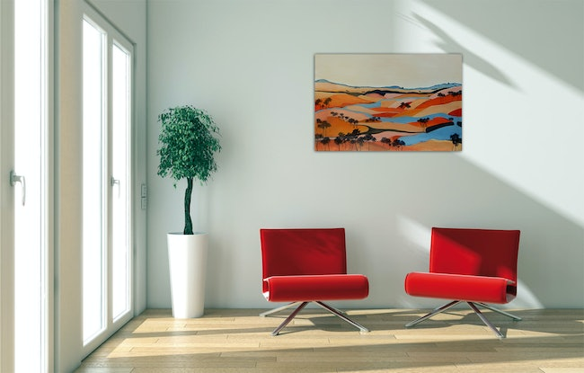 (CreativeWork) Sinuous by Doodie Herman. Acrylic Paint. Shop online at Bluethumb.