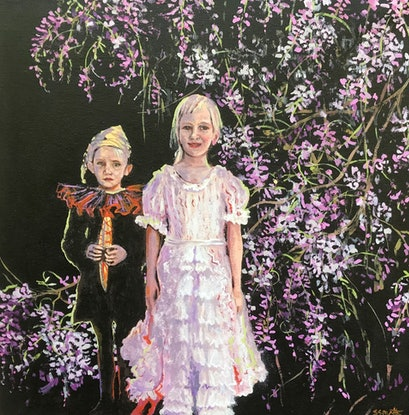 (CreativeWork) Fancy dress party by Sue Smith. Acrylic Paint. Shop online at Bluethumb.