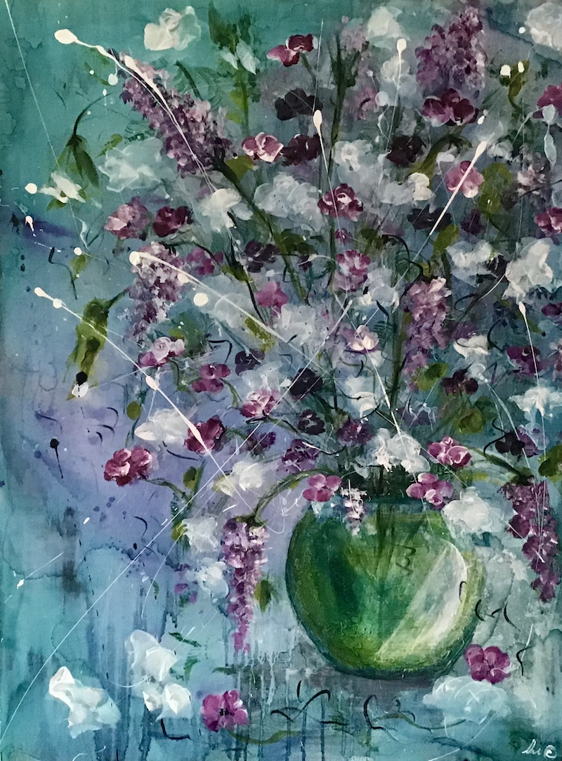 (CreativeWork) Suddenly Blossomed by Louise Croese. Mixed Media. Shop online at Bluethumb.