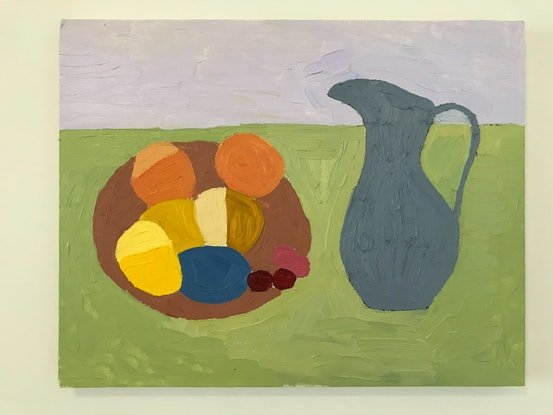 (CreativeWork) Still life by Lizzie Crawford. Oil Paint. Shop online at Bluethumb.