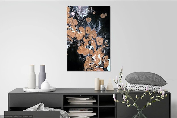 (CreativeWork) Gold Ore Ed. 1 of 20 by Lucy Tesch. Print. Shop online at Bluethumb.