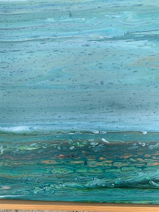 (CreativeWork) After the rains-Outback Landscape by Johanna Larkin. Acrylic Paint. Shop online at Bluethumb.