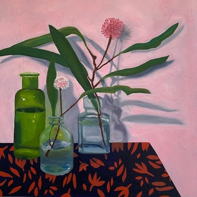 (CreativeWork) Hakea in Bottles by Amanda Ogilby. #<Filter:0x00007fc18a99f6d0>. Shop online at Bluethumb.