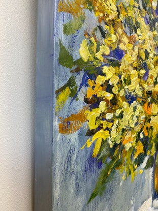 (CreativeWork) A TOUCH OF YELLOW by Ivana Pinaffo. Acrylic Paint. Shop online at Bluethumb.
