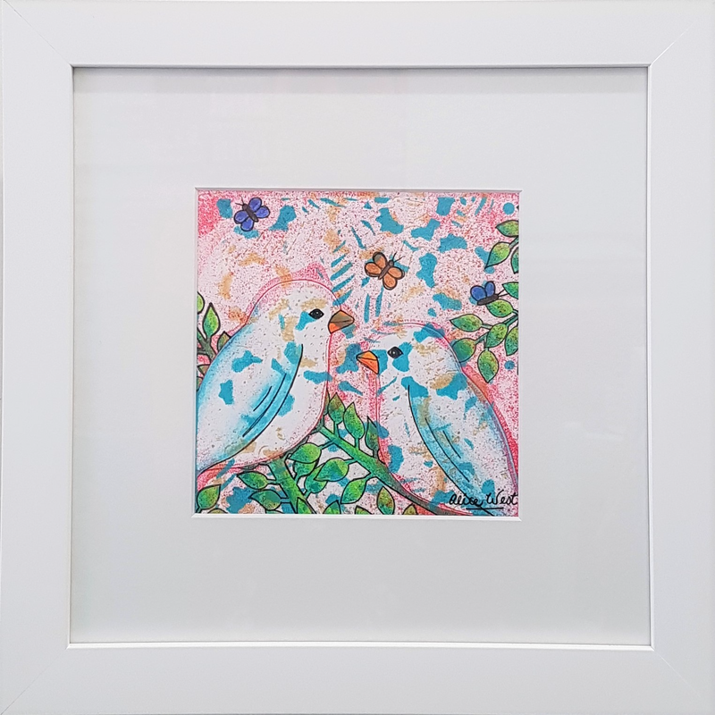 (CreativeWork) In The Tree Tops by Alice West. Mixed Media. Shop online at Bluethumb.