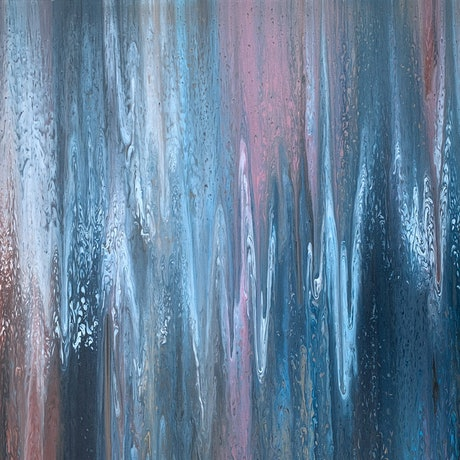 (CreativeWork) Moody Blues - original large abstract by Johanna Larkin. Acrylic Paint. Shop online at Bluethumb.