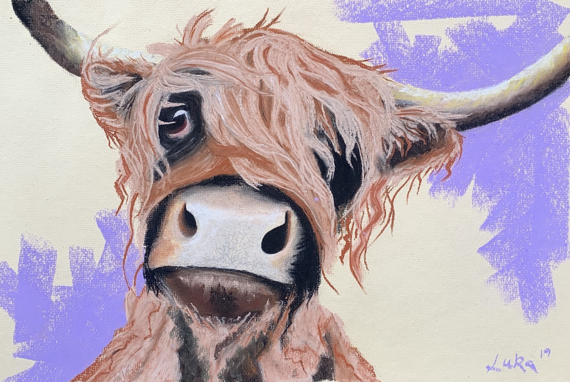 (CreativeWork) Moo by Luke Martin. Other Media. Shop online at Bluethumb.