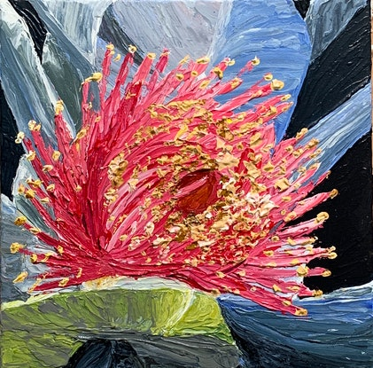 (CreativeWork) Coral Impasto by Hayley Kruger. Acrylic Paint. Shop online at Bluethumb.