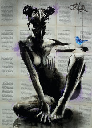 (CreativeWork) MISCHIEF AND HOPE by loui jover. Mixed Media. Shop online at Bluethumb.