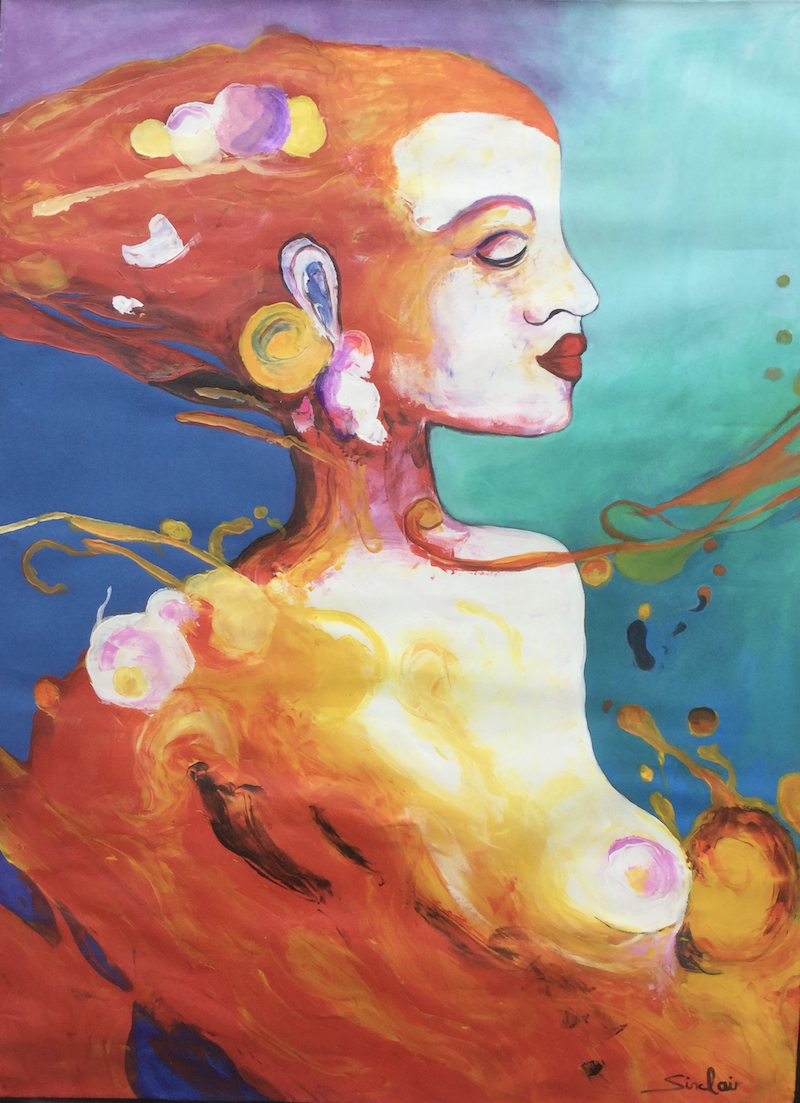 (CreativeWork) My fiery redhead by Mark Sinclair. Acrylic Paint. Shop online at Bluethumb.