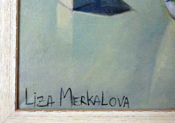 (CreativeWork) Still life in a white mood by Liza Merkalova. Oil Paint. Shop online at Bluethumb.