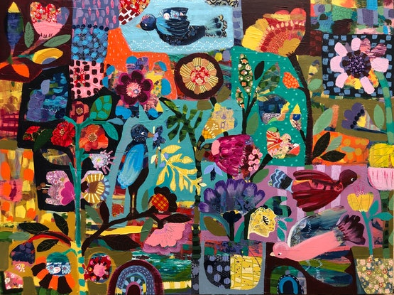 (CreativeWork) Colour Jam by Sandra Oost. Mixed Media. Shop online at Bluethumb.