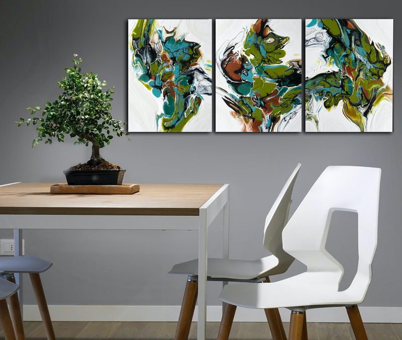 (CreativeWork) Flight of Fancy by Brigitte Ackland. Acrylic Paint. Shop online at Bluethumb.
