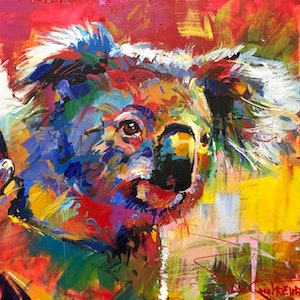 (CreativeWork) Koala - 11 by Jos Coufreur. Acrylic Paint. Shop online at Bluethumb.